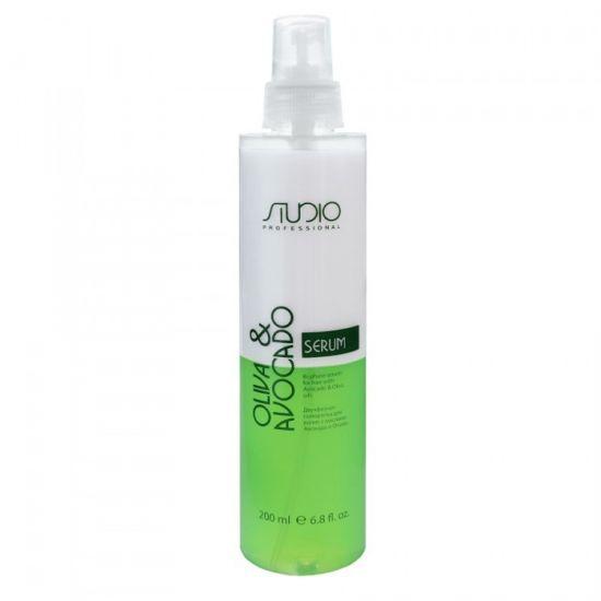 Двухфазная сыворотка для волос с масломи Авокадо и Оливы 200 мл линии Studio Professional