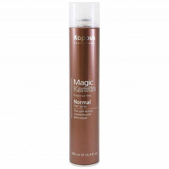 Лак аэрозольный для волос нормальной фиксации с кератином серии Magic keratin 500 мл
