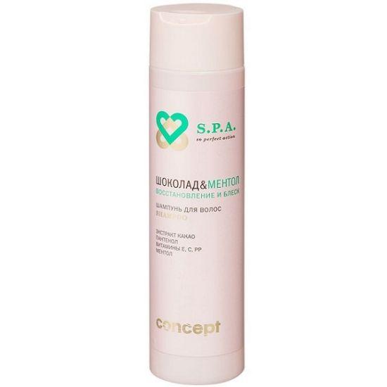 Шампунь для волос Шоколад & Ментол Восстановление и блеск 250 мл.CONCEPT