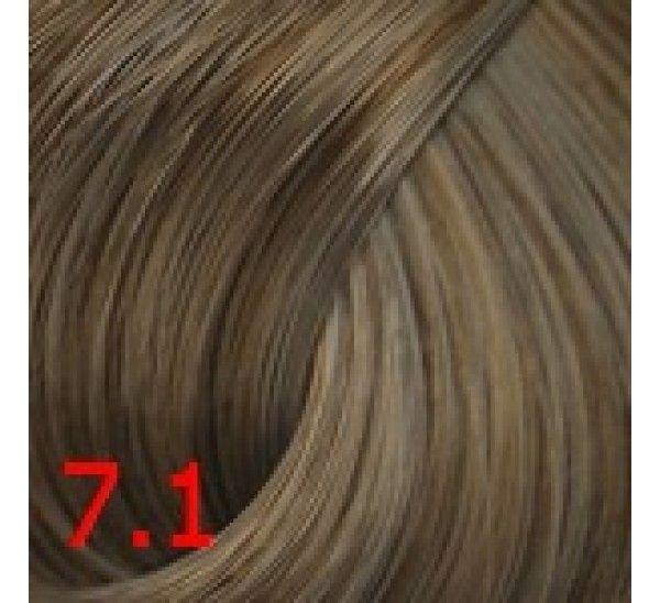 7.1 Пепельный  светло-русый 60 мл PERMANENT color cream CONCEPT