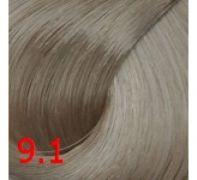 9.1 Светлый пепельный блондин 60 мл PERMANENT color cream CONCEPT