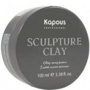 """Глина для укладки волос нормальной фиксации """"Sculpture Clay"""" 100 мл KAPOUS"""