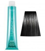 1.0 HY Черный крем-краска для волос с Гиалуроновой кислотой100мл Капус